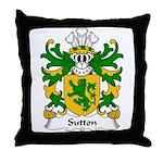 Sutton Family Crest Throw Pillow