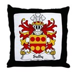 Sully Family Crest Throw Pillow