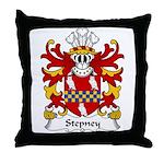 Stepney Family Crest Throw Pillow