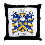 Stephen Family Crest Throw Pillow