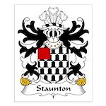 Staunton Family Crest Small Poster