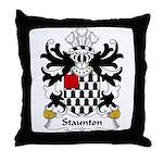 Staunton Family Crest Throw Pillow