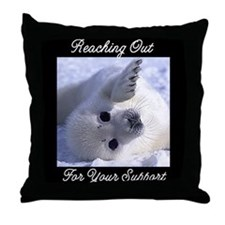 Reaching Out Throw Pillow