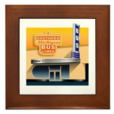 Bidlack's Old Bus Station Framed Tile