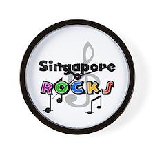 Singapore Rocks Wall Clock