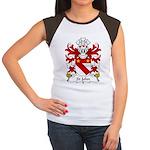 St John Family Crest Women's Cap Sleeve T-Shirt
