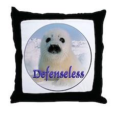 Defenseless Throw Pillow