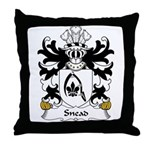 Snead Family Crest Throw Pillow