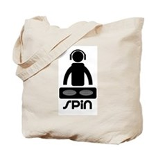DJ Spin Disc Jockey Tote Bag