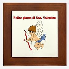 Italian Valentine Day Framed Tile