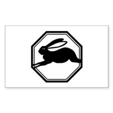 Year Of The Rabbit Rectangle Decal
