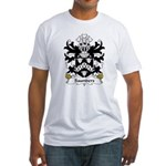 Saunders Family Crest Fitted T-Shirt
