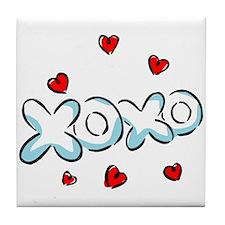 Kisses and Hugs Tile Coaster