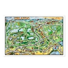 Funny Maps printing Postcards (Package of 8)