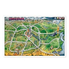 Cartoon maps Postcards (Package of 8)