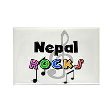 Nepal Rocks Rectangle Magnet