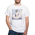 Kitten With Bowl White T-Shirt