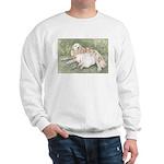 Girl and Great Pyrenees Sweatshirt