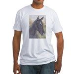 Black Horse Fitted T-Shirt
