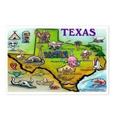 Cute Dallas map Postcards (Package of 8)