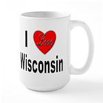 I Love Wisconsin Large Mug