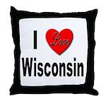 I Love Wisconsin Throw Pillow