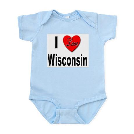 I Love Wisconsin Infant Creeper