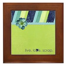 """""""live. love. scrap."""" Framed Tile"""