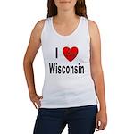 I Love Wisconsin Women's Tank Top