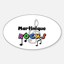 Martinique Rocks Oval Decal