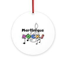 Martinique Rocks Ornament (Round)