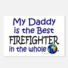 Best Firefighter In The World (Daddy) Postcards (P