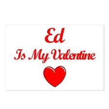 Ed is my Valentine  Postcards (Package of 8)