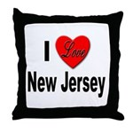 I Love New Jersey Throw Pillow