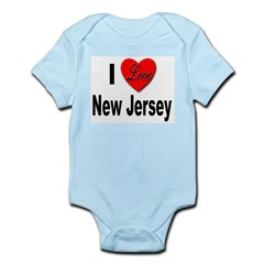 I Love New Jersey Infant Creeper