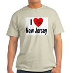 I Love New Jersey (Front) Ash Grey T-Shirt