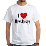 I Love New Jersey (Front) White T-Shirt