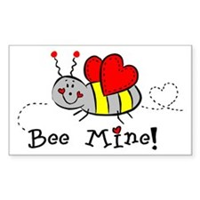 Bee Mine Rectangle Decal