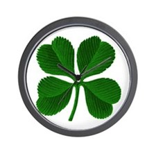 Luck of the Irish Four Leaf Clover Wall Clock