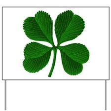 Luck of the Irish Four Leaf Clover Yard Sign