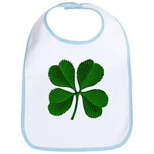 Luck of the Irish Four Leaf Clover Bib