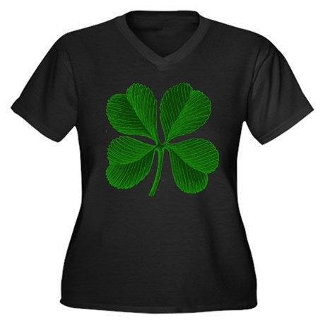 Luck of the Irish Four Leaf Clover Women's Plus Si