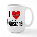 I Love Louisiana Large Mug