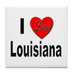 I Love Louisiana Tile Coaster