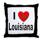 I Love Louisiana Throw Pillow