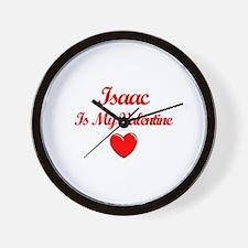 Isaac is my Valentine  Wall Clock