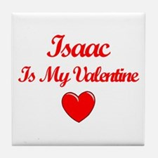Isaac is my Valentine  Tile Coaster