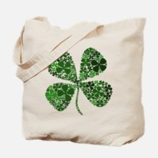 Extra Lucky Four Leaf Clover Tote Bag