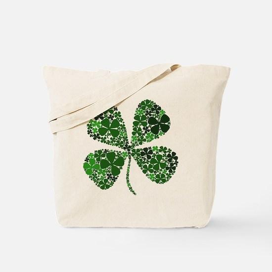 Extra Lucky Four Leaf Clover Tote Bag