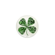 Extra Lucky Four Leaf Clover Mini Button